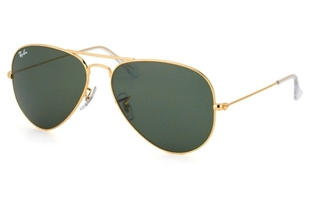 RB3025 AVIATOR LARGE METAL COLOR 001/3E ARISTA CRYSTAL GREEN